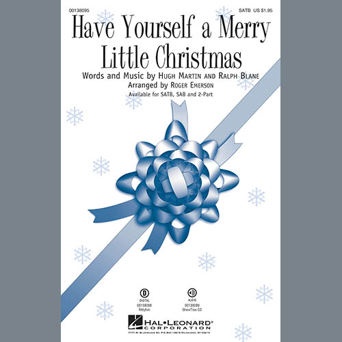 Roger Emerson, Have Yourself a Merry Little Christmas - Drums, Choir Instrumental Pak