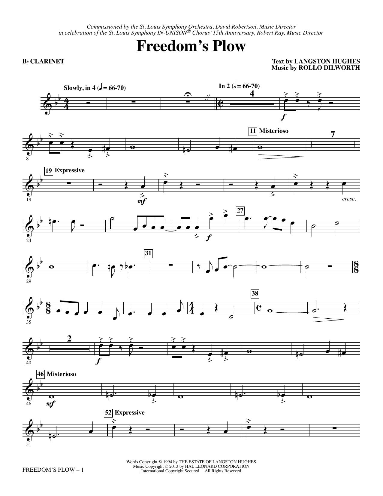 Freedom's Plow - Bb Clarinet sheet music