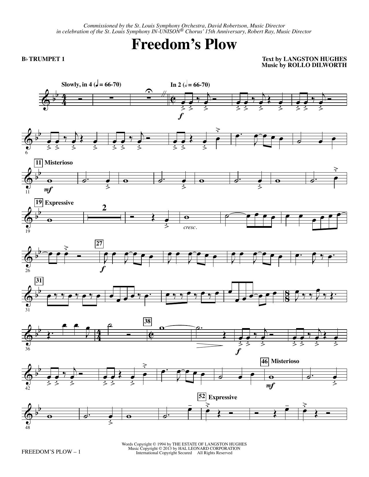 Freedom's Plow - Bb Trumpet 1 sheet music