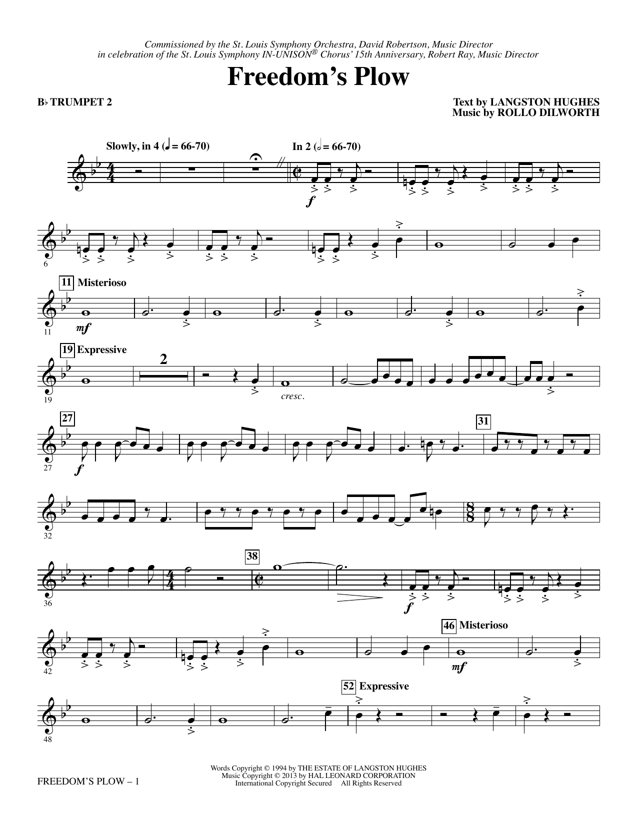 Freedom's Plow - Bb Trumpet 2 sheet music