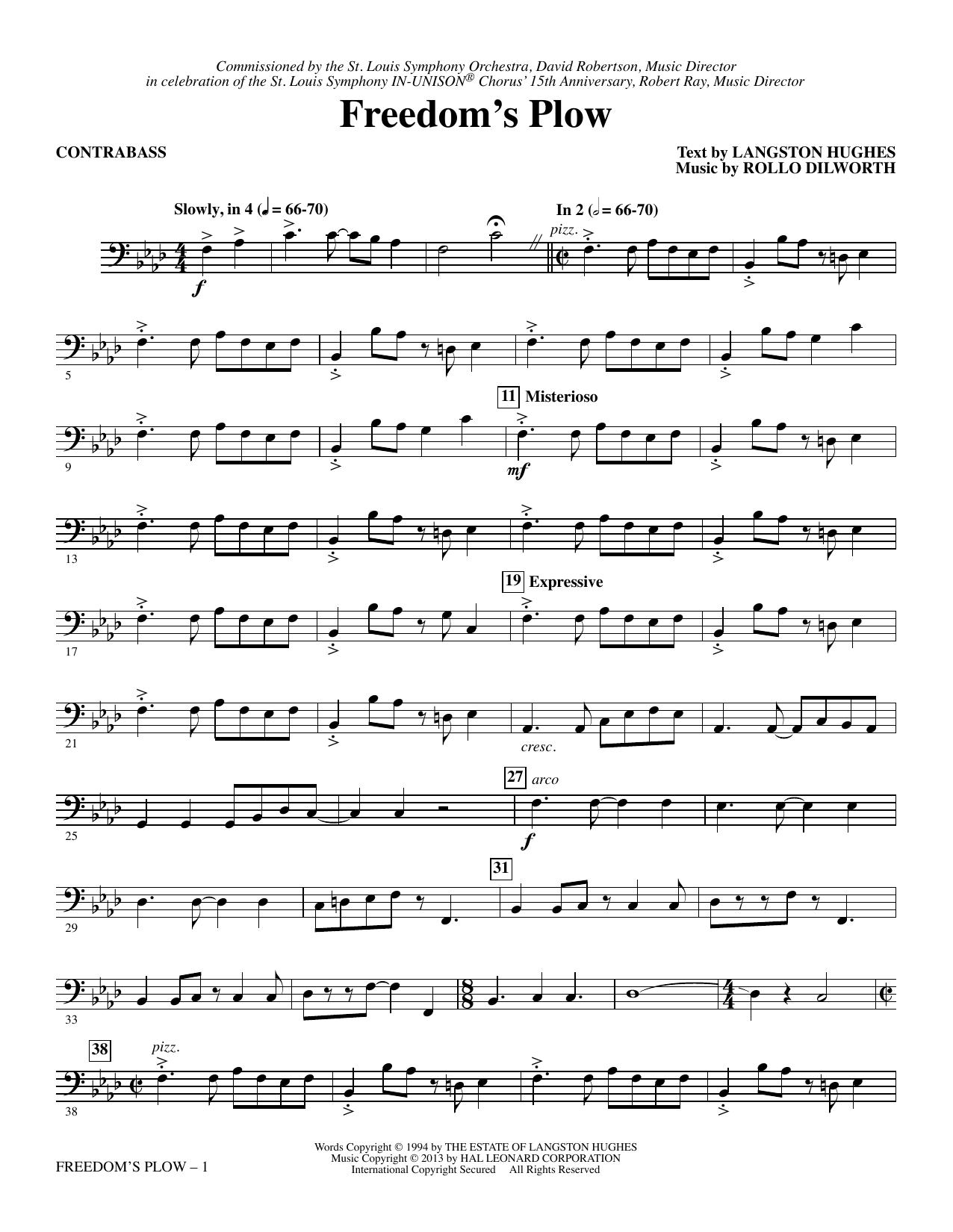 Freedom's Plow - Contrabass sheet music