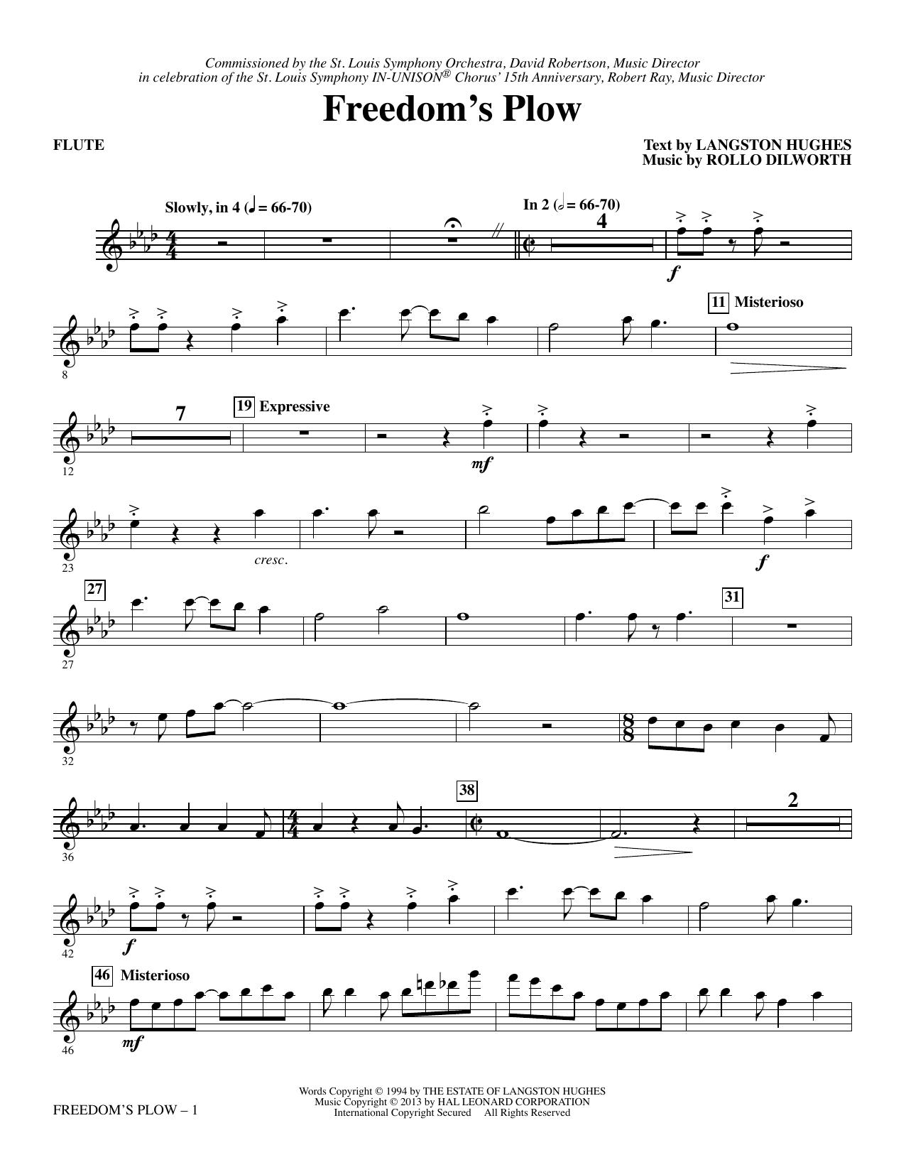 Freedom's Plow - Flute sheet music