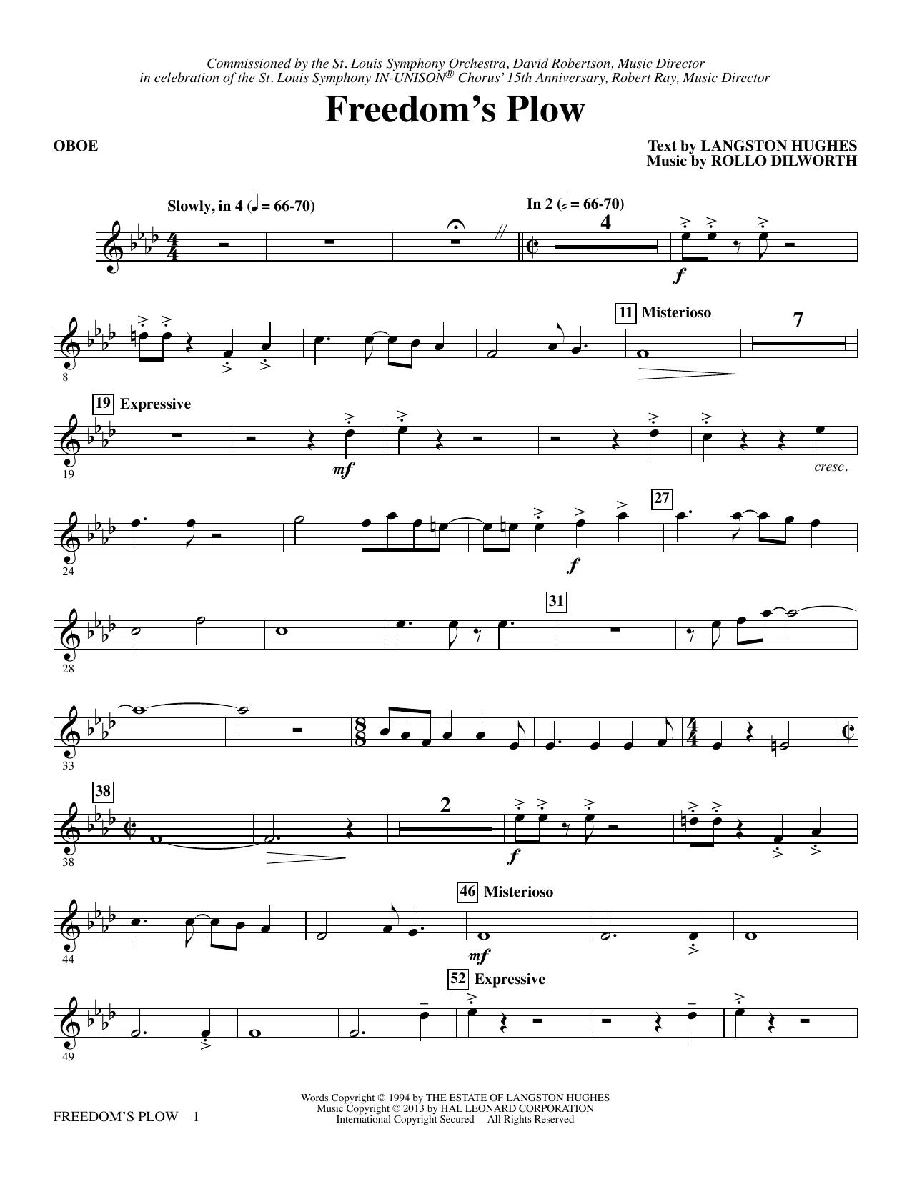 Freedom's Plow - Oboe sheet music