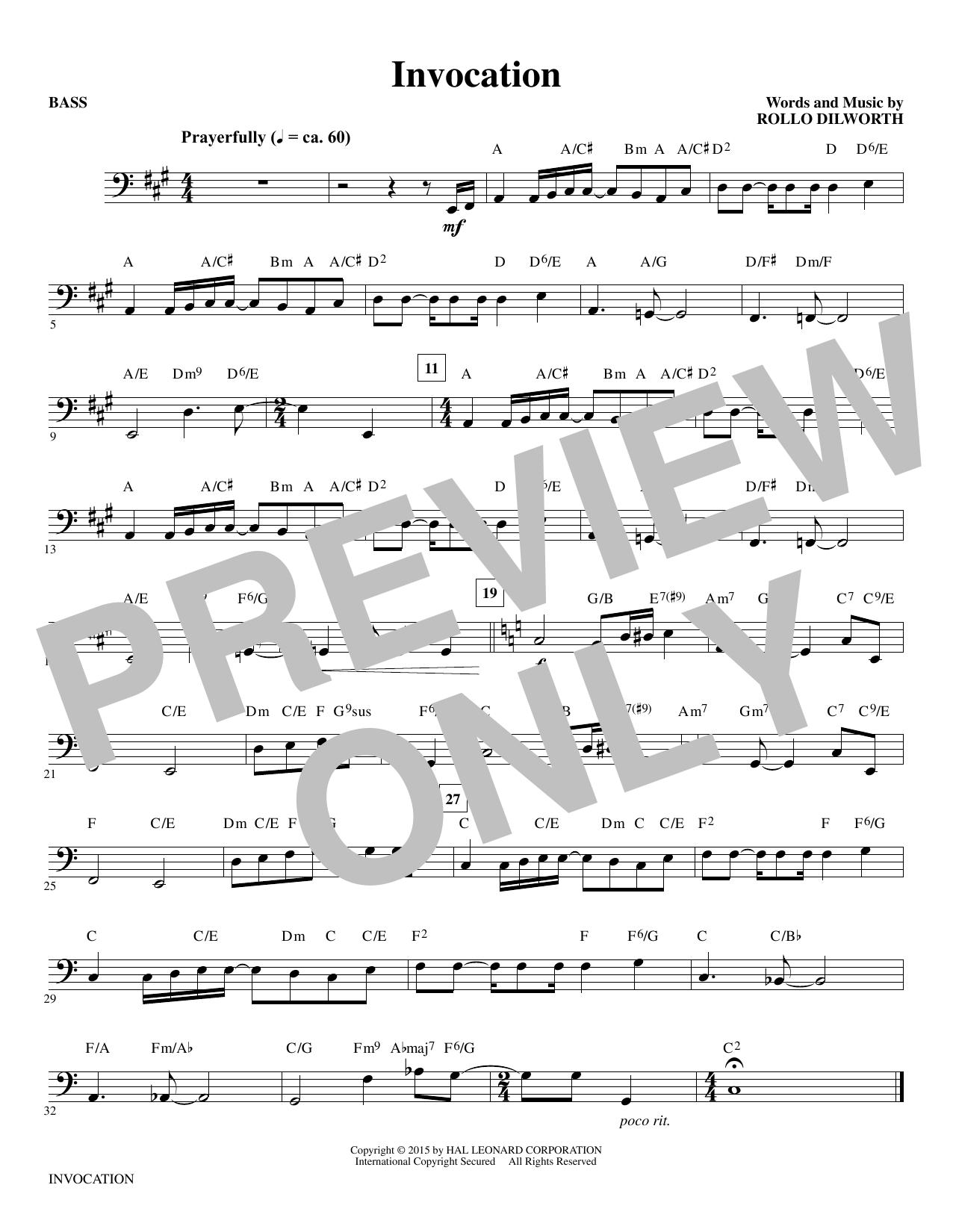 Invocation - Bass sheet music