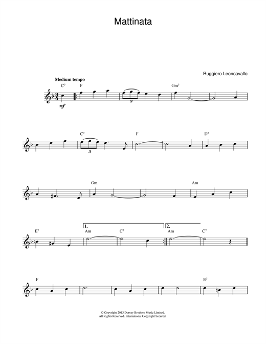 Mattinata sheet music
