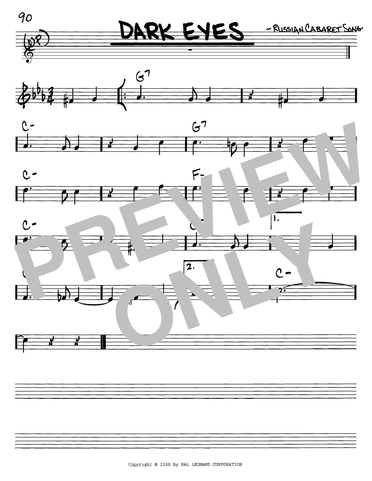 Dark Eyes sheet music