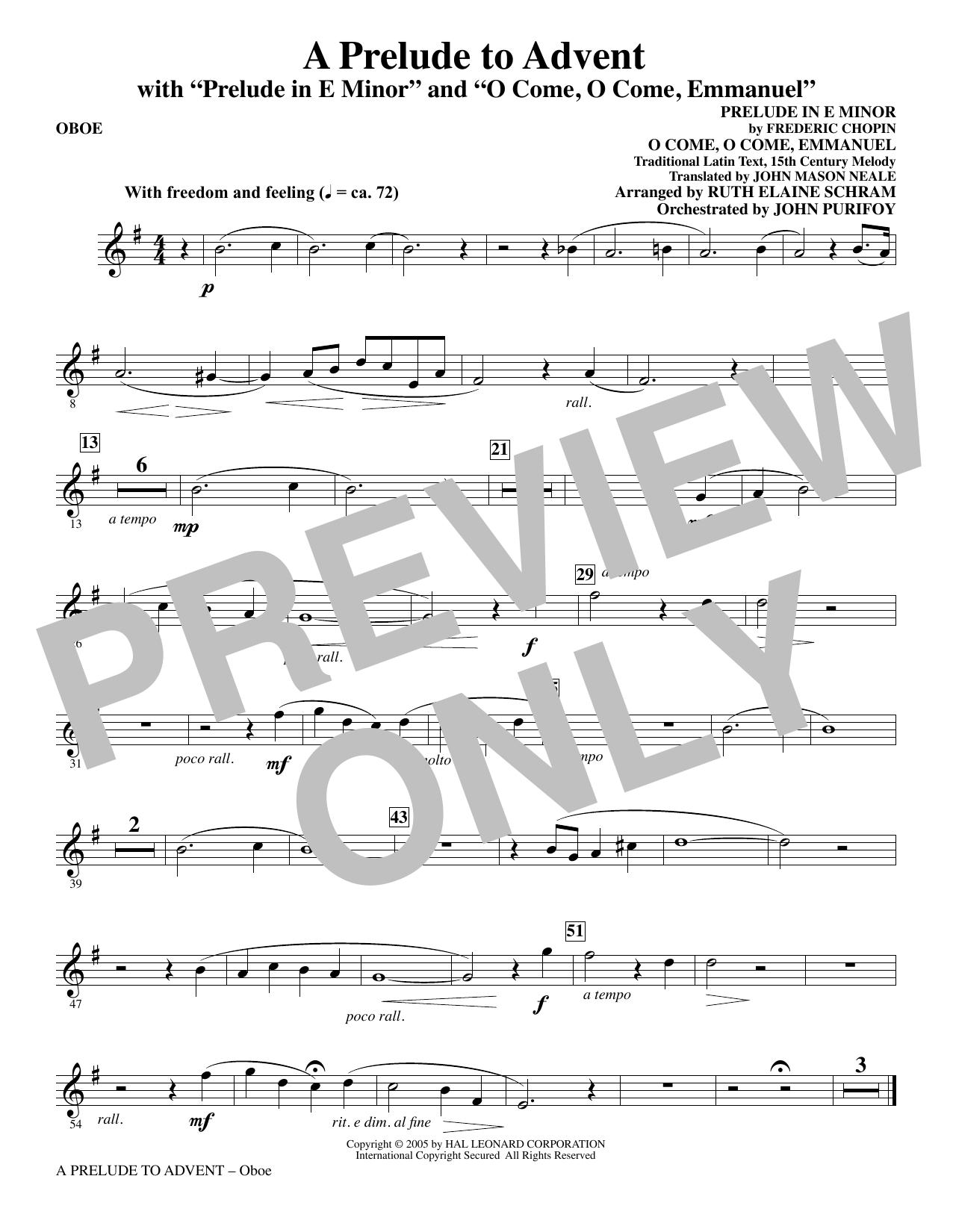 A Prelude To Advent (with Prelude In E Minor and O Come, O Come, Emmanuel) - Oboe sheet music