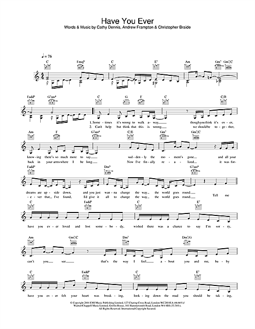 Have You Ever sheet music