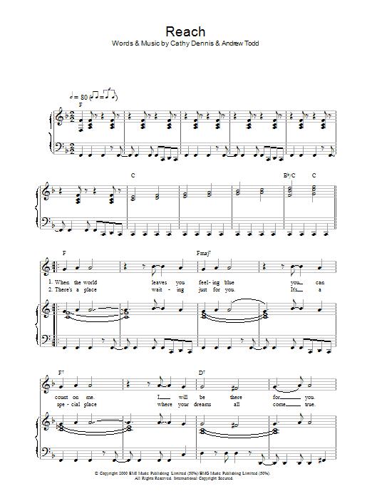 Reach sheet music
