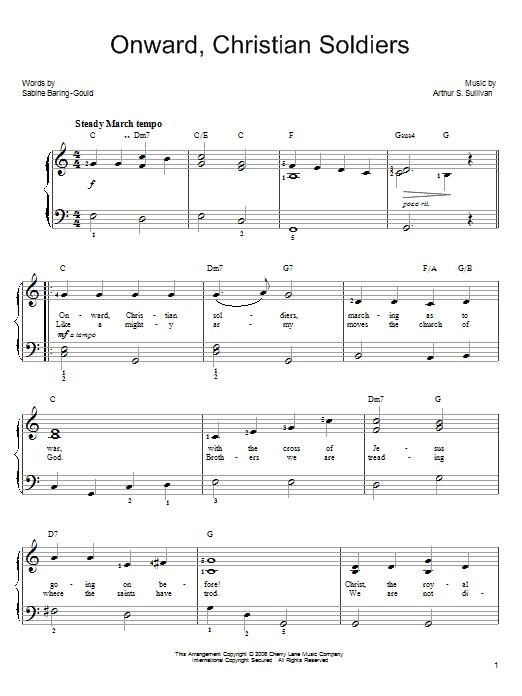 Onward, Christian Soldiers sheet music