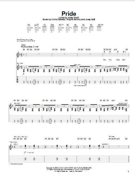 Pride sheet music