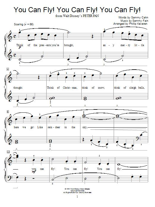 You Can Fly! You Can Fly! You Can Fly! sheet music