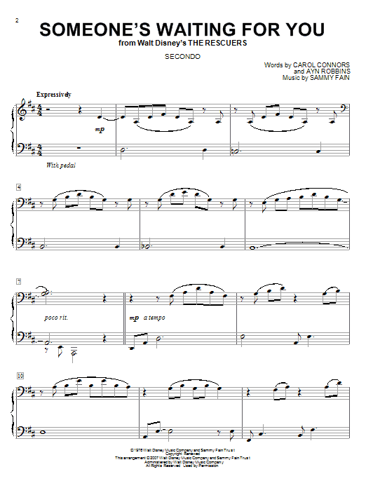 Someone's Waiting For You sheet music