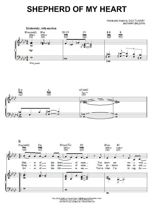 Shepherd Of My Heart sheet music