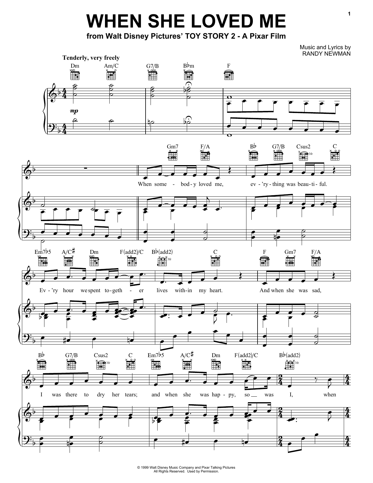 When She Loved Me (from Toy Story 2) sheet music