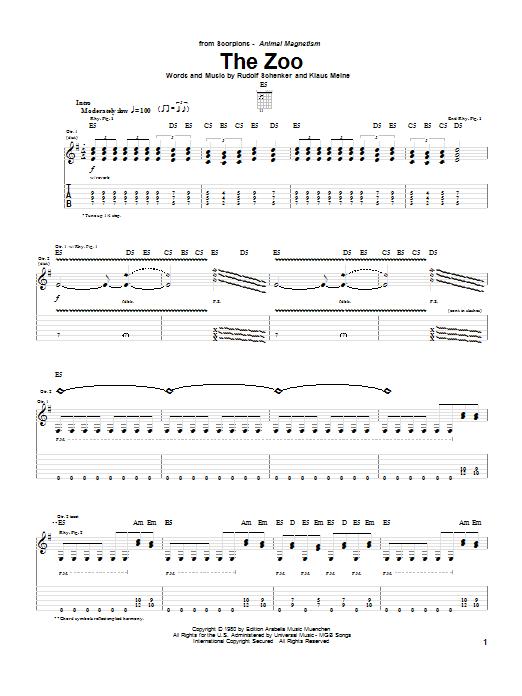 The Zoo sheet music