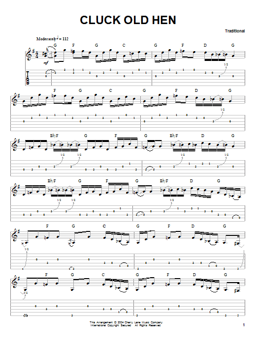 Cluck Old Hen sheet music