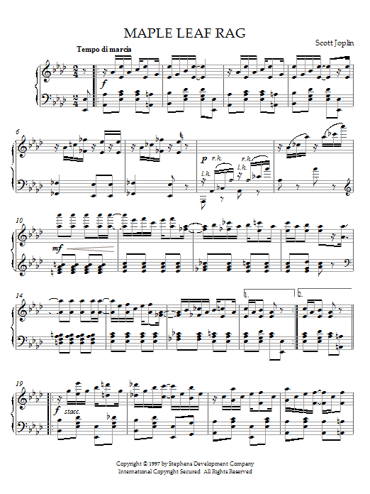 Maple Leaf Rag sheet music