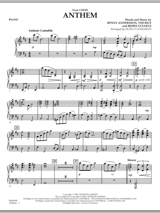 Anthem Chess Chords