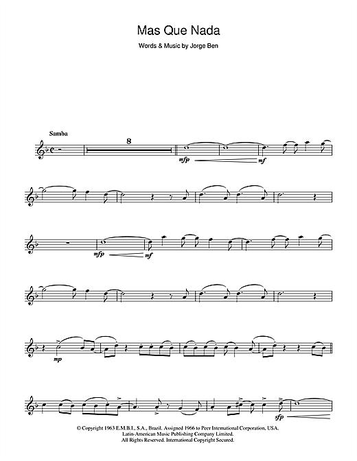 Mas Que Nada (Say No More) sheet music