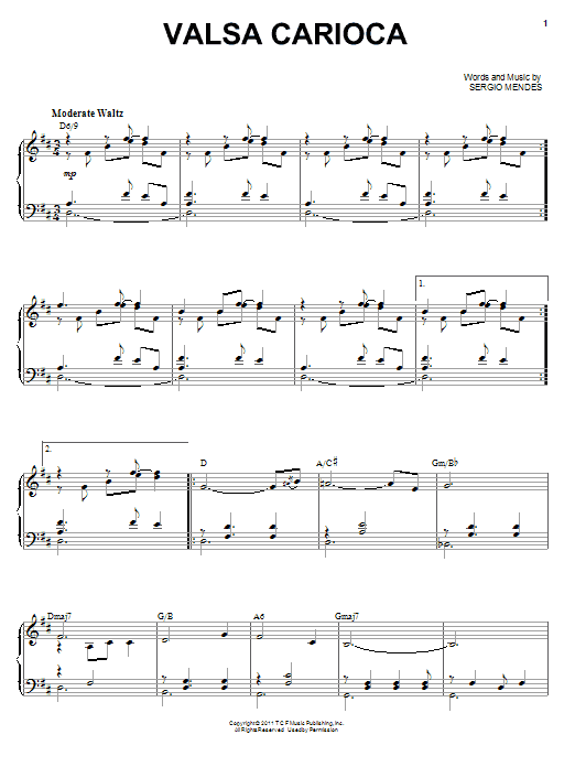 Valsa Carioca sheet music