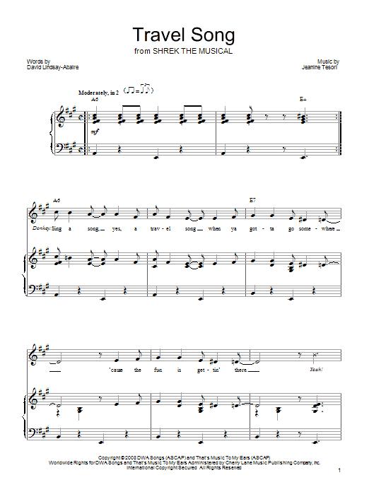 Travel Song sheet music