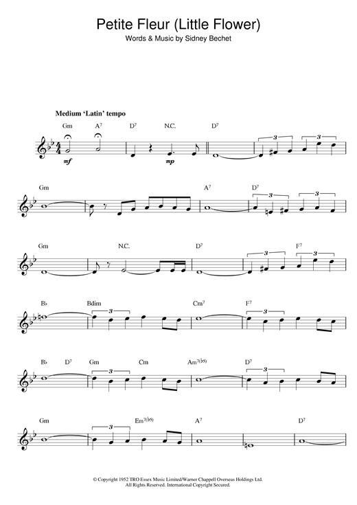 Petite Fleur (Little Flower) sheet music