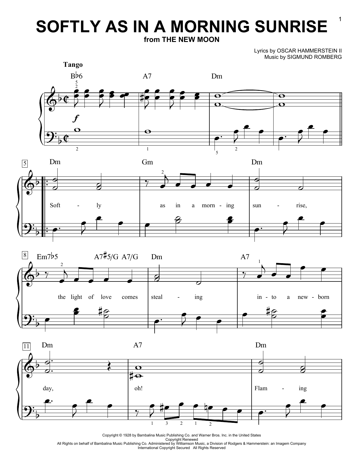 Softly As In A Morning Sunrise sheet music