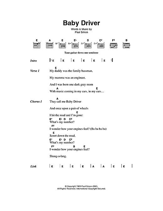Baby Driver sheet music