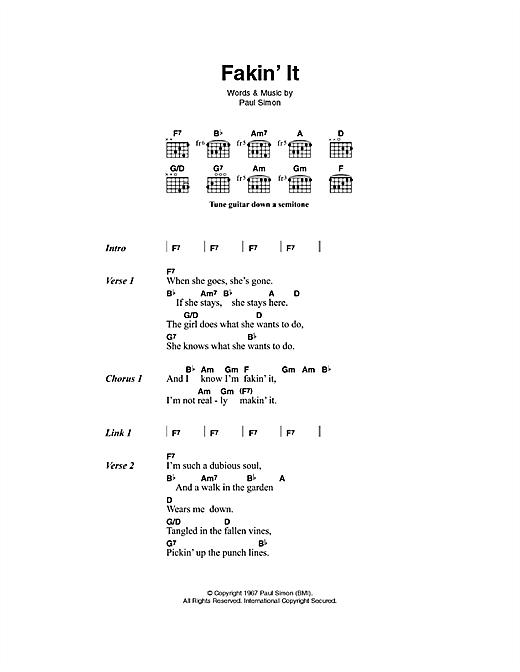 Fakin' It sheet music