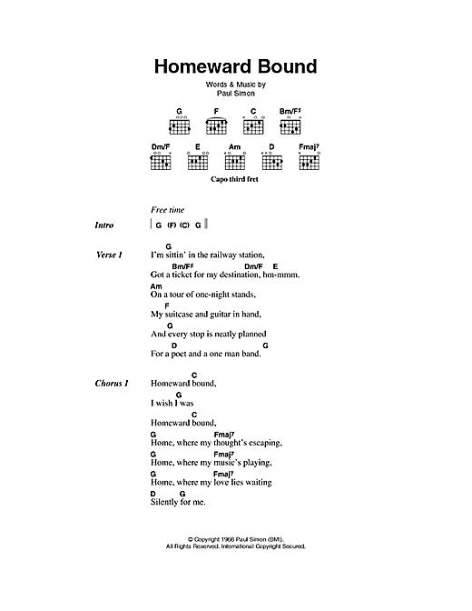 Homeward Bound sheet music