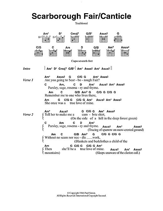 Scarborough Fair/Canticle sheet music
