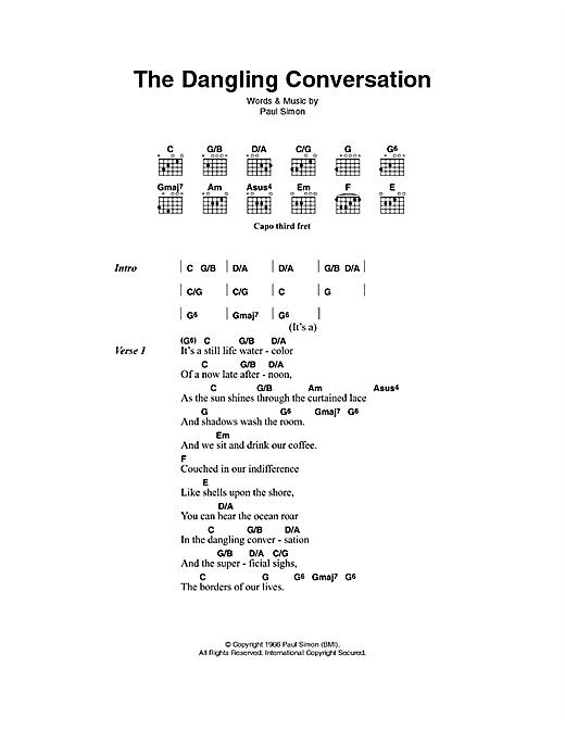The Dangling Conversation sheet music