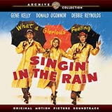 Download Arthur Freed and Nacio Herb Brown 'Singin' In The Rain' printable sheet music notes, Broadway chords, tabs PDF and learn this Big Note Piano song in minutes