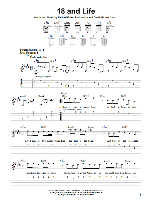 18 And Life sheet music