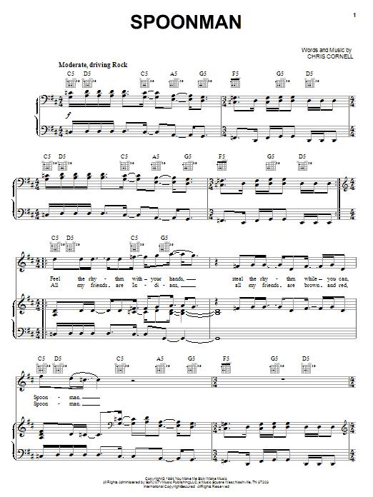 Spoonman sheet music