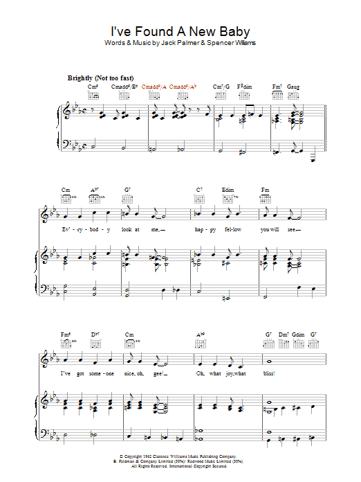 I've Found A New Baby sheet music