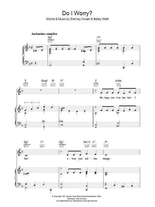 Do I Worry sheet music