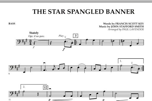Paul Lavender Star Spangled Banner Bass Sheet Music Download Pdf Score 272437