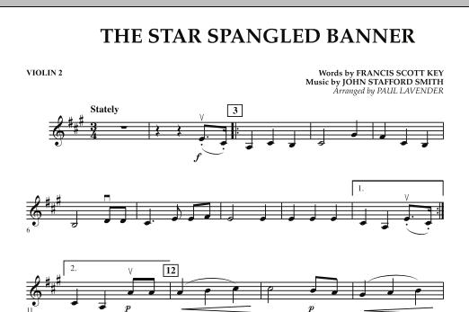 Paul Lavender Star Spangled Banner Violin 2 Sheet Music Download Pdf Score 272433