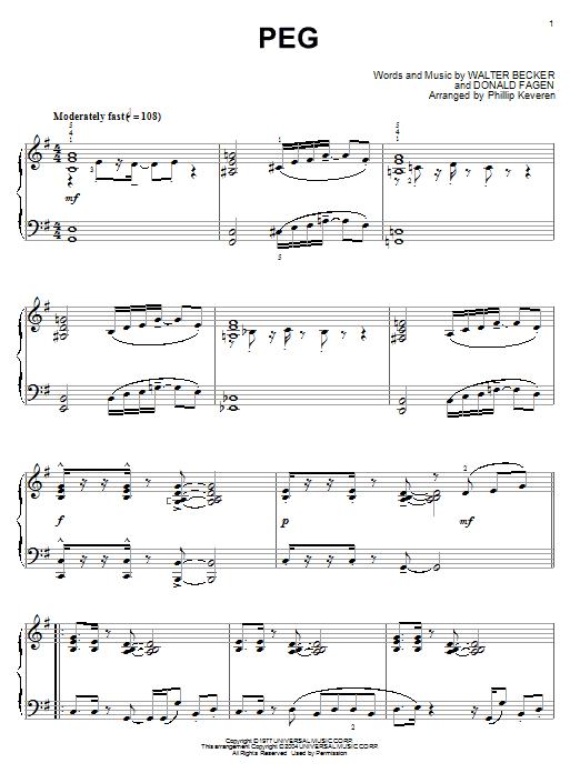 Peg sheet music