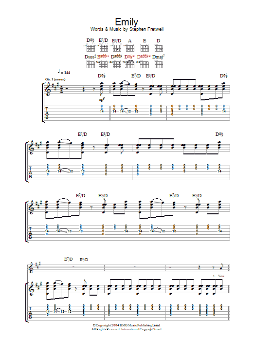 Emily sheet music