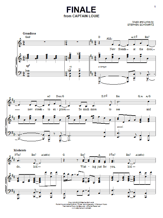 Finale sheet music