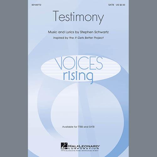 Stephen Schwartz, Testimony, TTBB