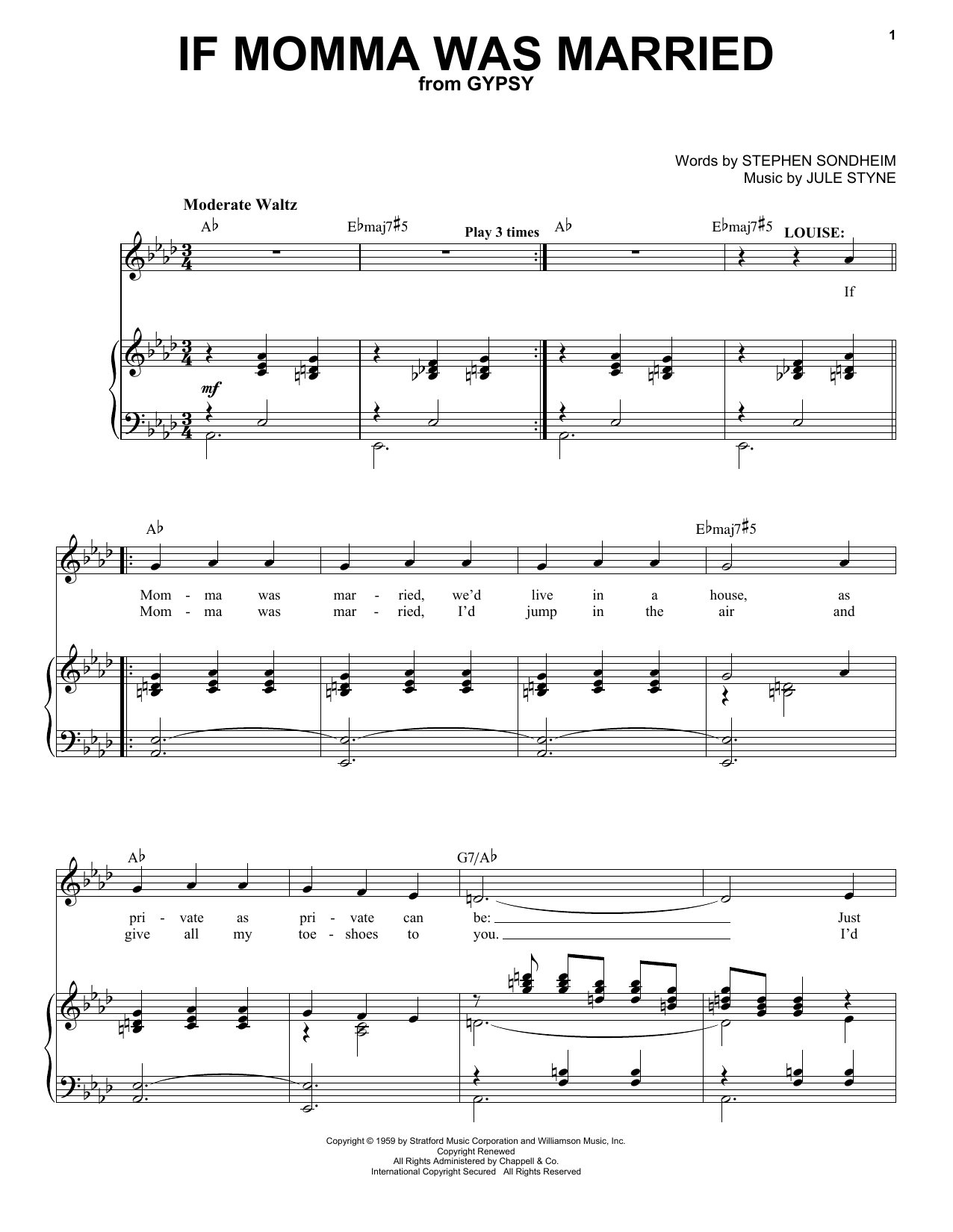 If Momma Was Married sheet music