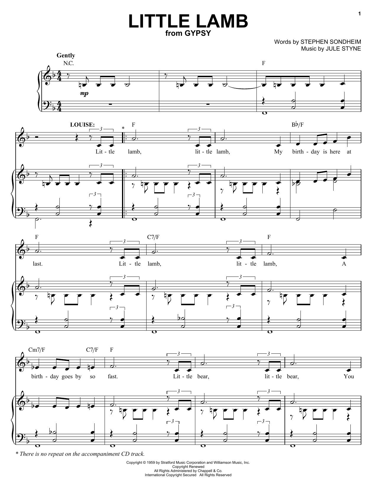 Little Lamb sheet music