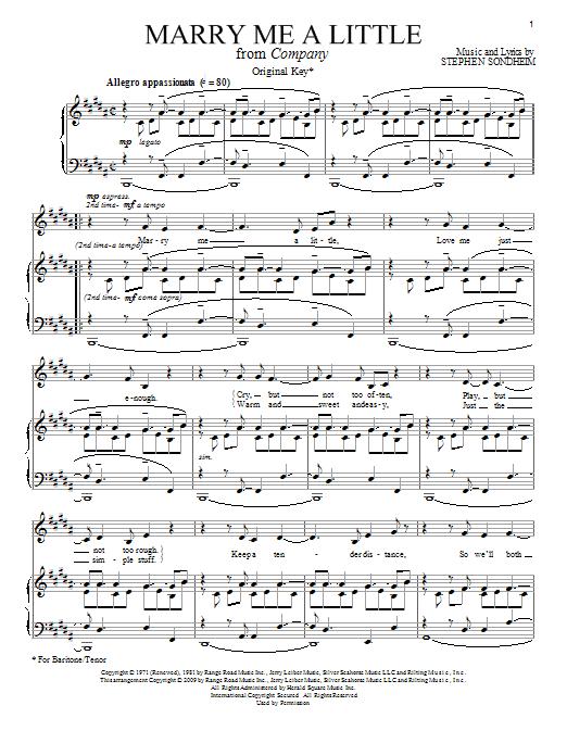 Marry Me A Little sheet music
