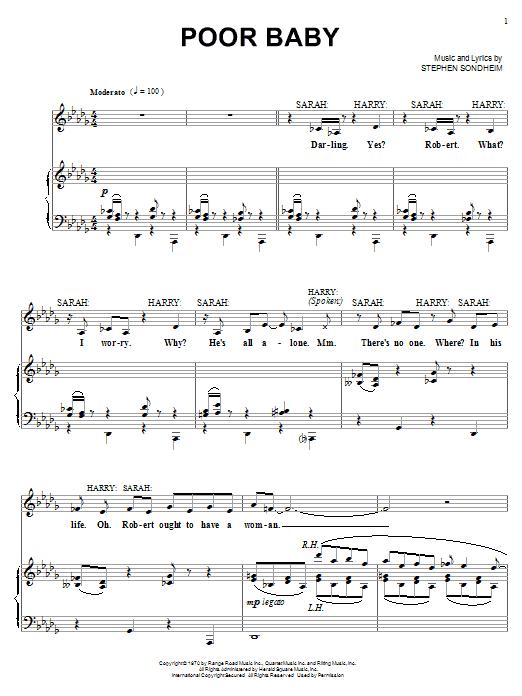 Poor Baby sheet music