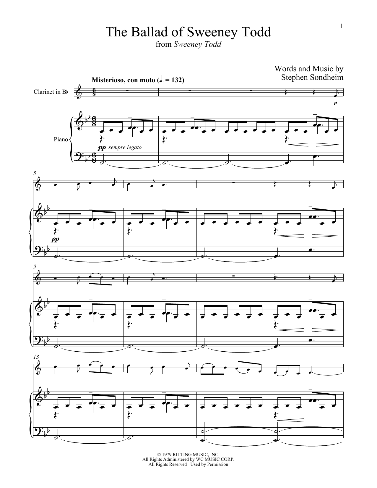 Stephen Sondheim The Ballad Of Sweeney Todd From Sweeney Todd Sheet Music Download Pdf Score 426524