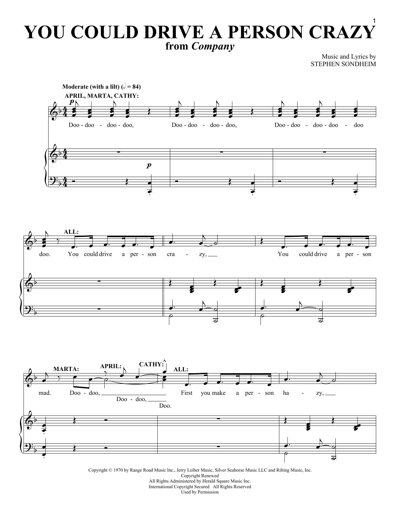 You Could Drive A Person Crazy sheet music